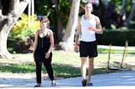 <p>Camila Cabello and Shawn Mendes are spotted out for their daily walk on Sunday in Miami. </p>