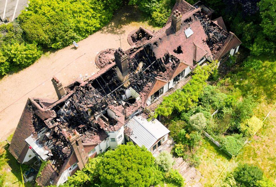 Williams' house was heavily damaged by the fire (Credit: SWNS)