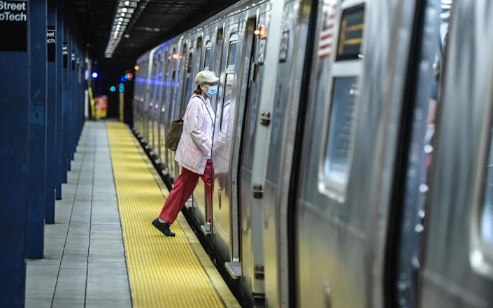 The subway opened today, as New York City enters phase two of its reopening timeline - Getty