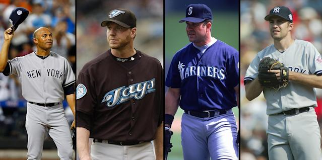 Mariano Rivera, Roy Halladay, Edgar Martinez and Mike Mussina were elected to the Baseball Hall of Fame on Tuesday. (Getty Images)