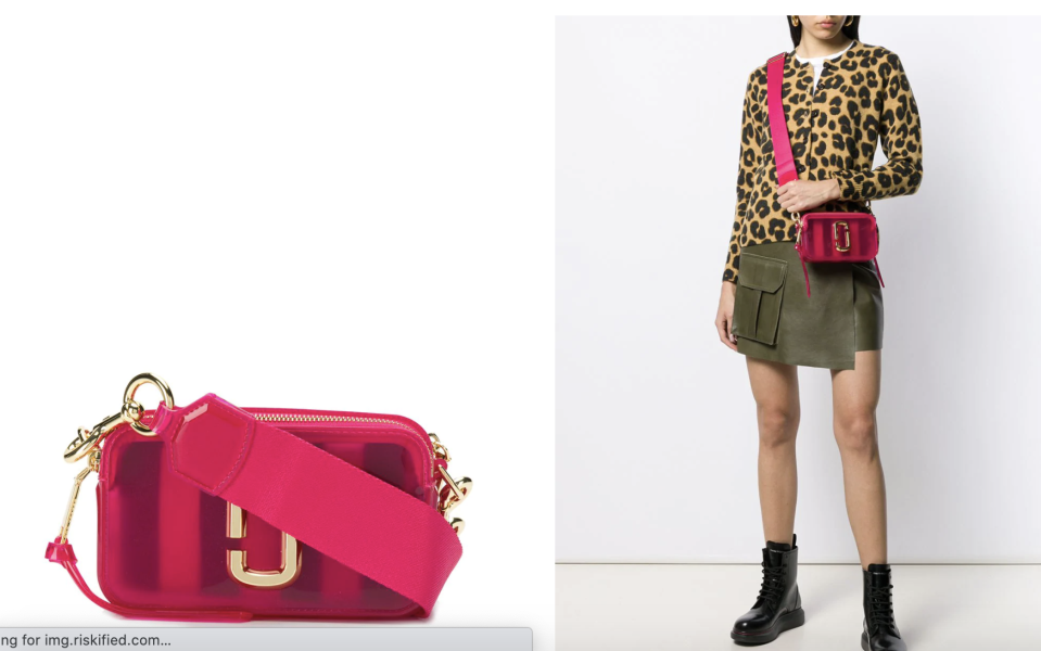 Marc Jacobs The Jelly Snapshot camera bag. PHOTO: Farfetch