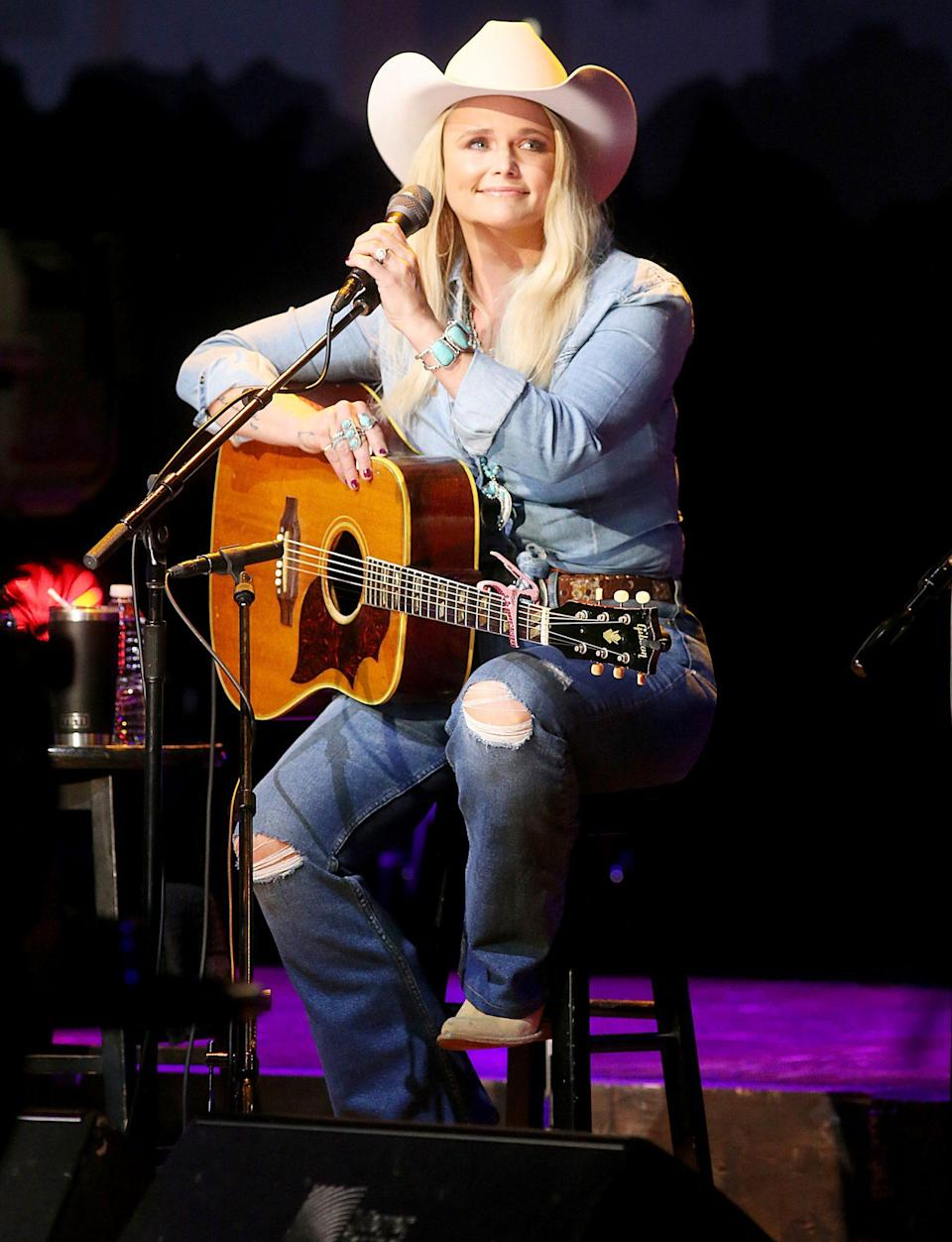 <p>Miranda Lambert performs songs from her new release <em>Marfa Tapes </em>during a taping of Austin City Limits in Austin, Texas on Wednesday. </p>