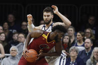 Louisiana Monroe's Chris Efretuei (0) goes to the basket against Butler's Bryce Golden (33) during the first half of an NCAA college basketball game, Saturday, Dec. 28, 2019, in Indianapolis. (AP Photo/Darron Cummings)