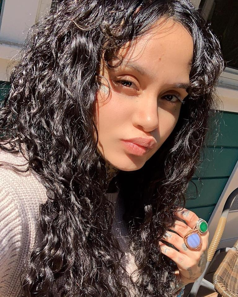 Kehlani shows off glossy curls. Photo courtesy of Instagram.