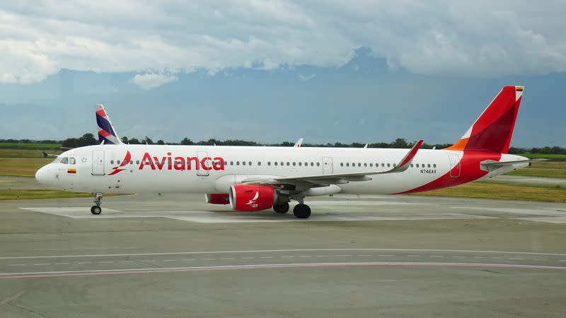 FILE PHOTO: Avianca Airlines Airbus A321 plane is seen at the Alfonso Bonilla Aragon International Airport in Palmira
