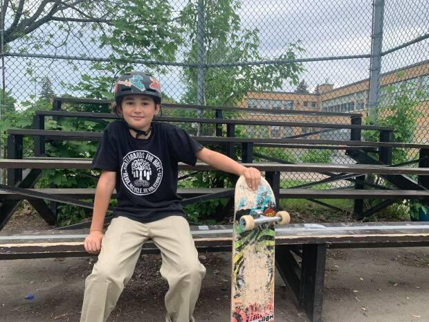 James Nathan Stein-Webb,10, has developed a passion for skateboarding, and he loves the community. He wishes, however, that NDG had a better place to skate.