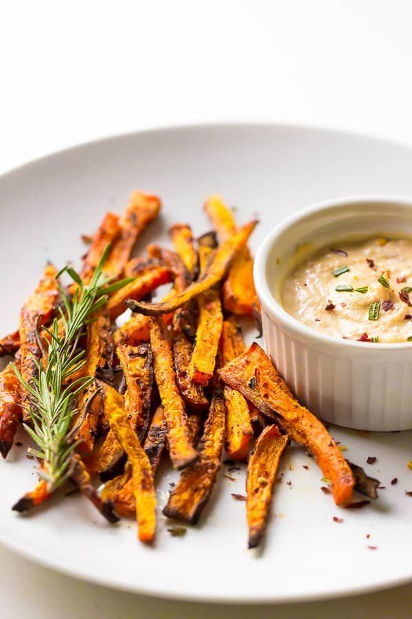 "<p>Move over, potato fries and ketchup. This healthier version really packs in the flavor.</p><p><em><a href=""https://jessicainthekitchen.com/baked-carrot-fries-harissa-tahini-dip/"" rel=""nofollow noopener"" target=""_blank"" data-ylk=""slk:Get the recipe from Jessica in the Kitchen »"" class=""link rapid-noclick-resp"">Get the recipe from Jessica in the Kitchen »</a></em></p><p><strong>RELATED: </strong><a href=""https://www.goodhousekeeping.com/health/diet-nutrition/g576/healthy-snacks/"" rel=""nofollow noopener"" target=""_blank"" data-ylk=""slk:20+ Healthy Snacks That Can Be Great for Weight Loss"" class=""link rapid-noclick-resp"">20+ Healthy Snacks That Can Be Great for Weight Loss</a></p>"