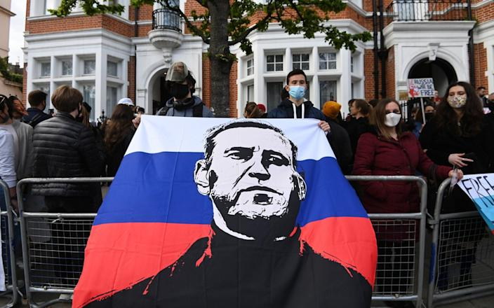 Thousands of people around Russia have joined unauthorised rallies to protest the detention of Alexei Navalny - Shutterstock