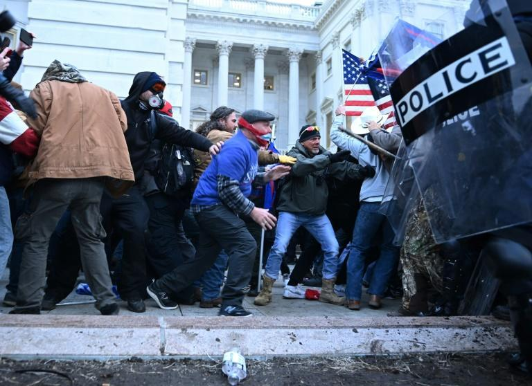 """One Fox News reporter said the demonstrators """"for the most part"""" did little more than """"push and shove"""""""