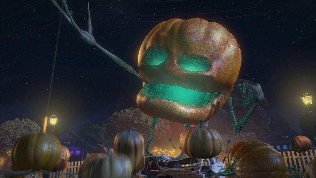 "Wicked Jack (voiced by Rainn Wilson) in ""Monsters Vs. Aliens: Mutant Pumpkins From Outer Space."""