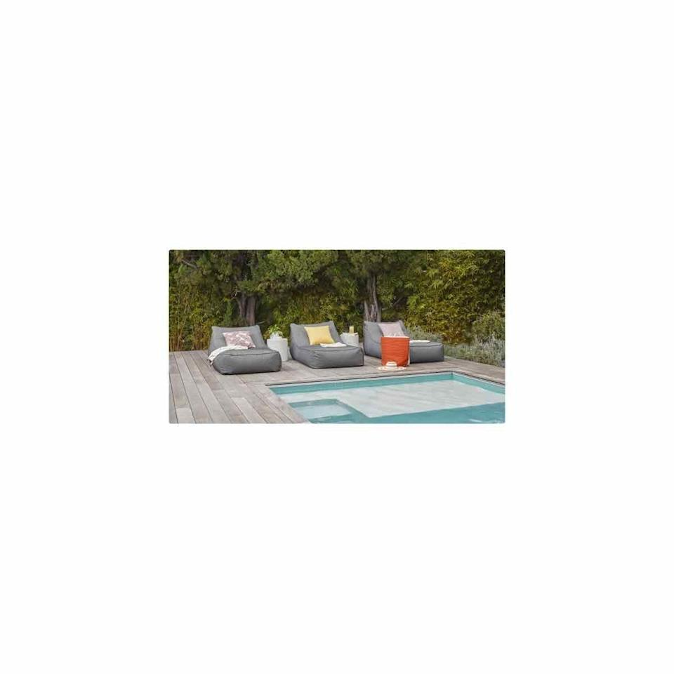 """<p><strong>Article</strong></p><p>article.com</p><p><strong>$599.00</strong></p><p><a href=""""https://www.article.com/product/13593/galpin-met-black-lounger"""" rel=""""nofollow noopener"""" target=""""_blank"""" data-ylk=""""slk:SHOP NOW"""" class=""""link rapid-noclick-resp"""">SHOP NOW</a></p><p>Think of this super comfortable piece as the meeting of an outdoor lounger and an oversized bean bag. </p>"""