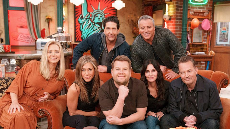 The cast of 'Friends' on 'The Late Late Show' - Credit: CBS/The Late Late Show