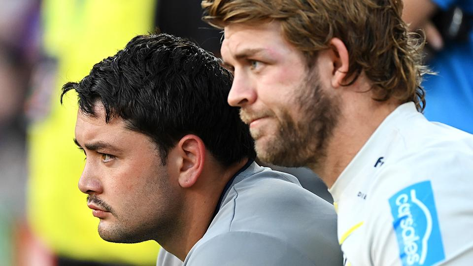 The Storm lost Brandon Smith and Christian Welch in the first half of their preliminary final against Penrith, after both failed HIA tests. (Photo by Bradley Kanaris/Getty Images)