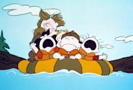 """<p><strong>Amazon's Description:</strong> """"The Peanuts gang is off to summer camp and a rollicking animated escapade that has them facing up to the bullies and risking their necks in a hair-raising river raft race.""""</p> <p><a href=""""https://www.amazon.com/gp/video/detail/B08KGWR85N/"""" class=""""link rapid-noclick-resp"""" rel=""""nofollow noopener"""" target=""""_blank"""" data-ylk=""""slk:Watch Race For Your Life, Charlie Brown on Amazon Prime Video here!"""">Watch <strong>Race For Your Life, Charlie Brown</strong> on Amazon Prime Video here!</a></p>"""