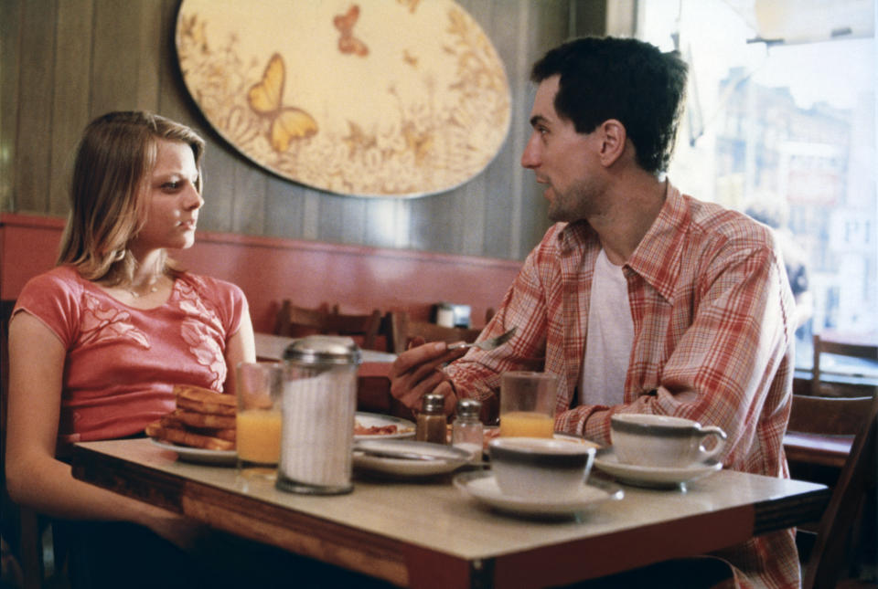 American actors Jodie Foster and Robert de Niro on the set of Taxi Driver, directed by Martin Scorsese. (Photo by Sunset Boulevard/Corbis via Getty Images)