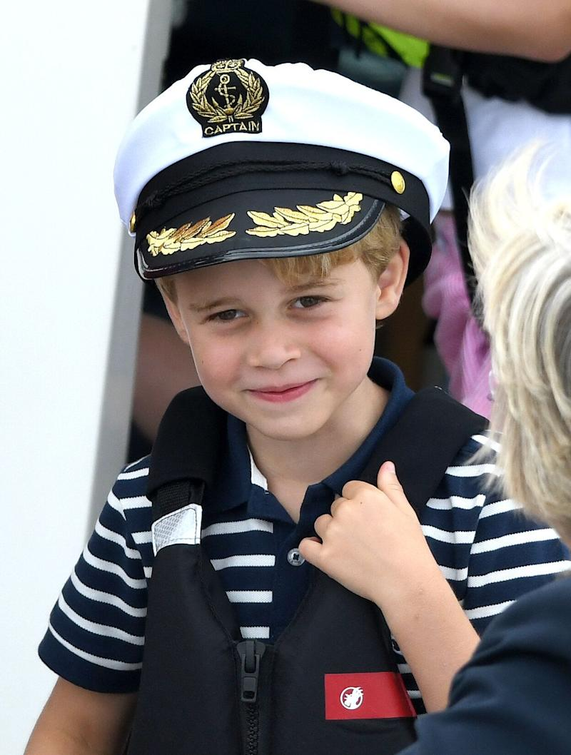 Prince George watches the inaugural King's Cup regatta hosted by the Duke and Duchess of Cambridge on Aug. 8 in Cowes, England. (Photo: Karwai Tang via Getty Images)