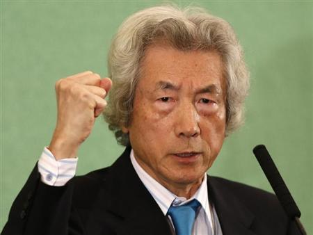 Japan's former Prime Minister Junichiro Koizumi speaks at the Japan National Press Club in Tokyo