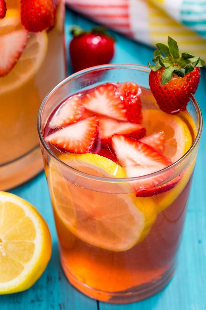 """<p>Gotta stay hydrated, y'all.</p><p>Get the recipe from <a href=""""https://www.delish.com/cooking/recipe-ideas/recipes/a47212/spiked-strawberry-lemonade-recipe/"""" rel=""""nofollow noopener"""" target=""""_blank"""" data-ylk=""""slk:Delish"""" class=""""link rapid-noclick-resp"""">Delish</a>.</p>"""