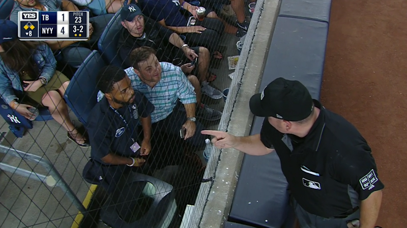 Yankees Fan Ejected by Umpire for Tipping Rays' Pitches to Gary Sanchez
