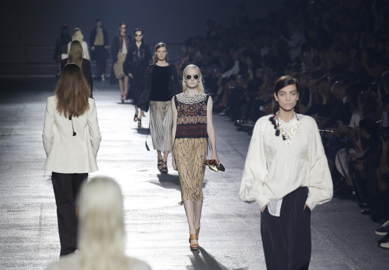 Paris fashion goes from peasants to space-age