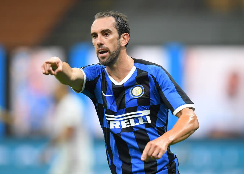 Uruguay captain Godin joins Cagliari after one season at Inter