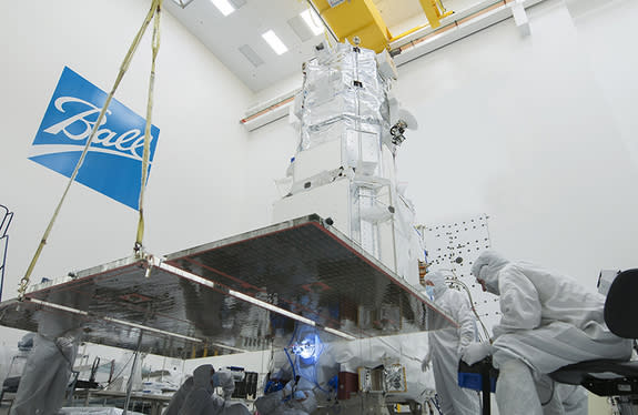 WorldView-3 is the fourth Ball Aerospace-built satellite in the DigitalGlobe constellation. During its planned seven and a half year life, it will offer the most advanced Earth imagery currently available for commercial applications.