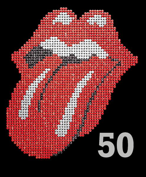 """This book cover image released by Hyperion shows """"The Rolling Stones 50,"""" by Mick Jagger, Keith Richards, Charlie Watts and Ronnie Wood. In celebration of the band's 50th anniversary, the book offers stark commentary from the Stones to go with tour photos, candids and close-ups. Barnes & Noble is reccomending """"The Rolling Stones 50"""" as a holiday gift for 2012. (AP Photo/Hyperion)"""