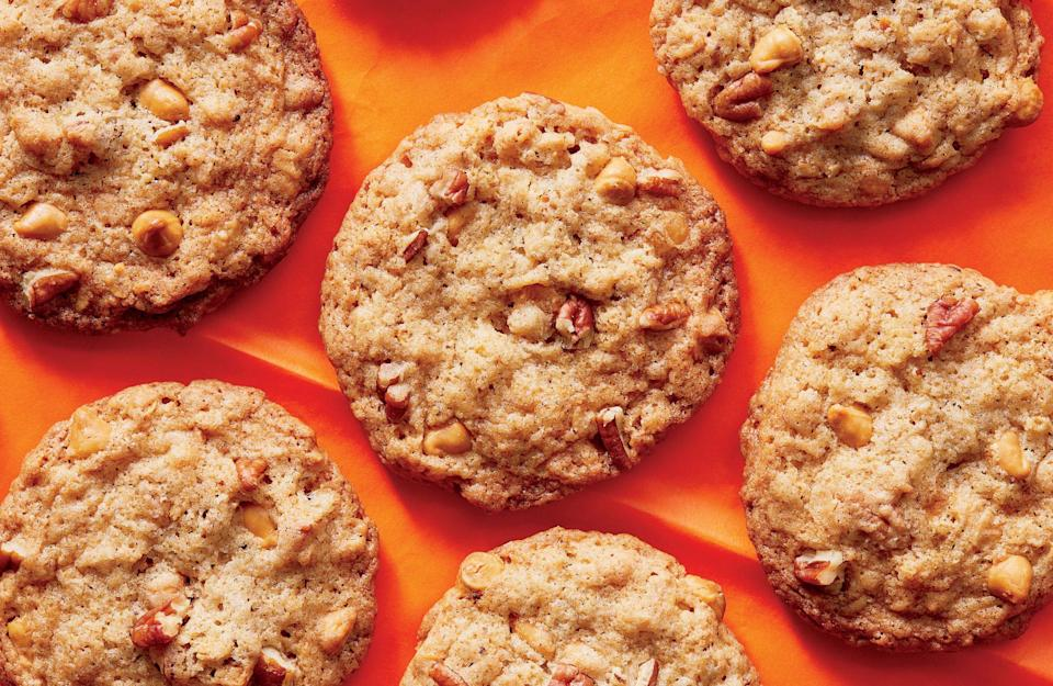 """<p><strong>Recipe: <a href=""""https://www.southernliving.com/recipes/butterscotch-toasted-oatmeal-cookies-recipe"""" rel=""""nofollow noopener"""" target=""""_blank"""" data-ylk=""""slk:Butterscotch-Toasted Oatmeal Cookies"""" class=""""link rapid-noclick-resp"""">Butterscotch-Toasted Oatmeal Cookies</a></strong></p> <p>Oatmeal cookies never tasted so good. Add in butterscotch chips for a flavorful cookie the whole family will love.</p>"""