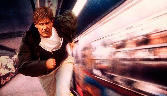 Imagen promocional de Harrison Ford en El fugitivo (© 1993 - Warner Bros. Entertainment Inc.)