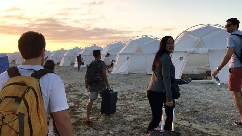 "This image released by Netflix shows a scene from the documentary ""Fyre: The Greatest Party That Never Happened,"" named one of the top ten TV shows of the year by the Associated Press. (Netflix via AP)"