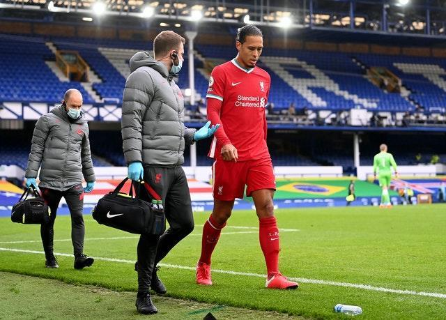 Virgil Van Dijk is also facing a long time on the sidelines