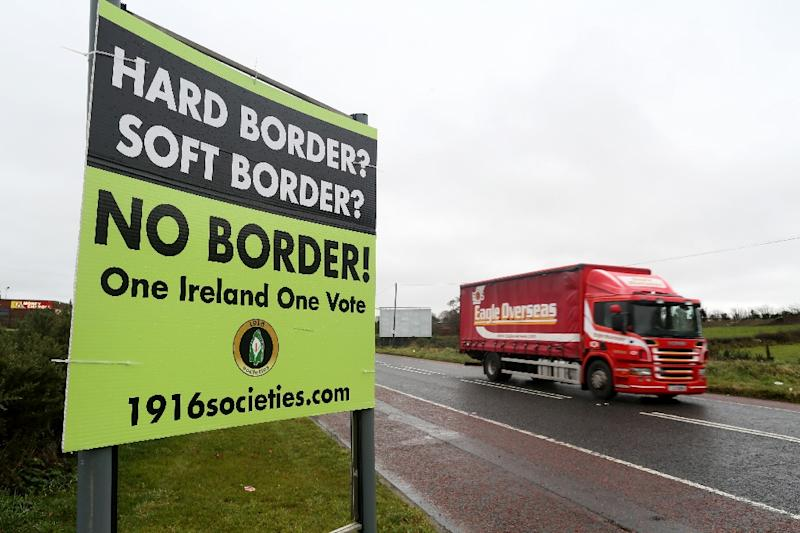 The issue of the border between Ireland and Northern Ireland is a key sticking point in the Brexit deal (AFP Photo/Paul FAITH)