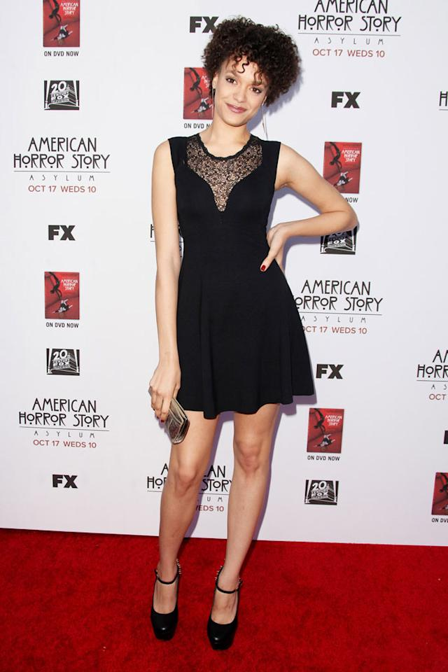 "Britne Oldford attends the ""American Horror Story: Asylum"" premiere held at Paramount Studios on October 13, 2012 in Hollywood, California."