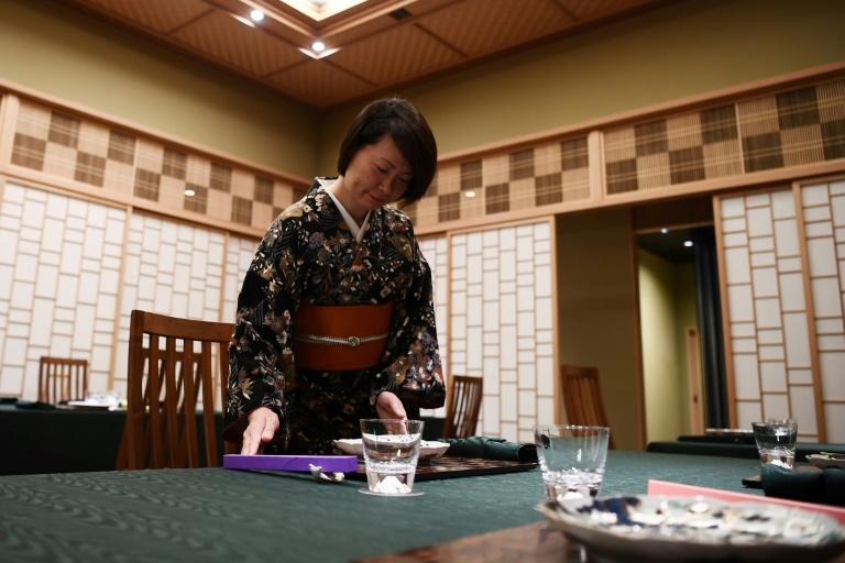 The famously innovative Ryugin restaurant in the Japanese capital run by chef Seiji Yamamoto jumped 30 places to reach the shared number one spot on 'La Liste' (AFP Photo/CHARLY TRIBALLEAU)