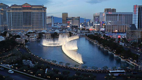 PHOTO: In this April 4, 2017, file photo, the fountains of Bellagio erupt along the Las Vegas Strip in Las Vegas. (AP)