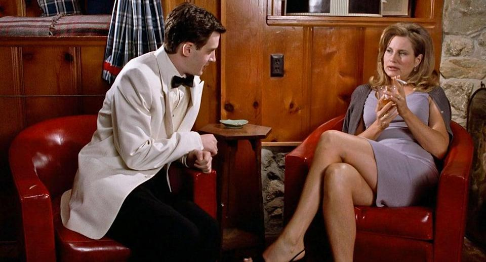 Eddie Kaye Thomas and Jennifer Coolidge in a scene from American Pie (Alamy/PA)