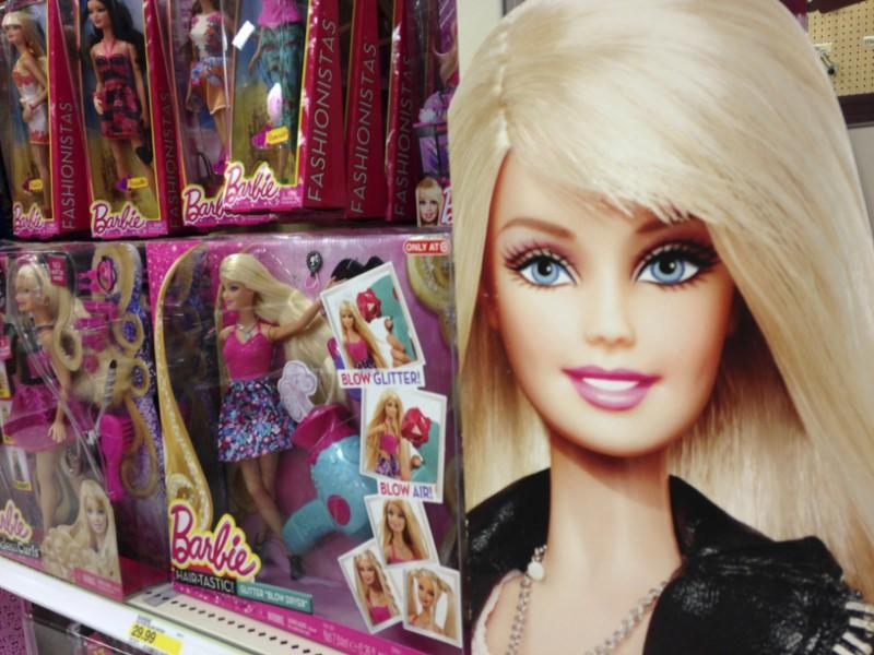 Barbie dolls are shown in the toy department of a retail store in Encinitas, California