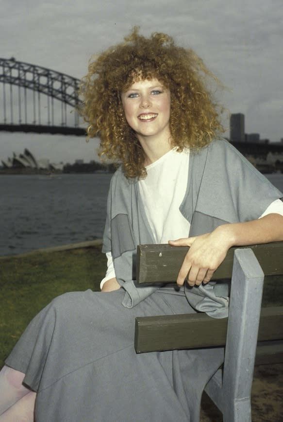 From a photo session that followed the release of one of her first movies, BMX Bandit, 1983