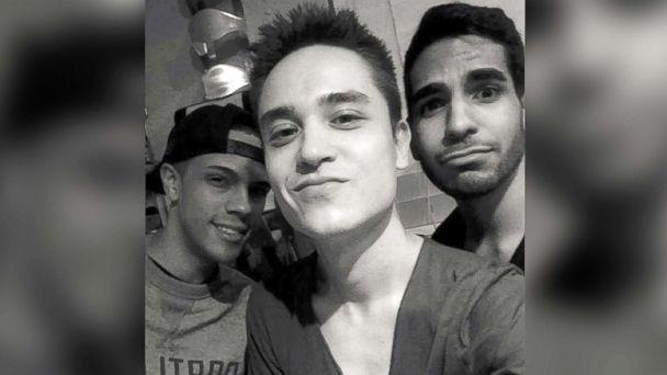 PHOTO: Seen from left to right, Brandon Wolf, Christopher 'Drew' Leinonen and Juan Guerrero. Leinonen and Guerrero were killed among 49 men and women, along with 53 who were wounded at Pulse nightclub in Orlando, Fla., on the night of June 12, 2016.  (Brandon Wolf)
