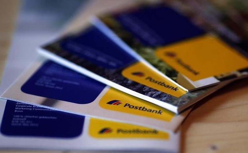 An illustration picture shows brochures of the Postbank AG on a table in Munich