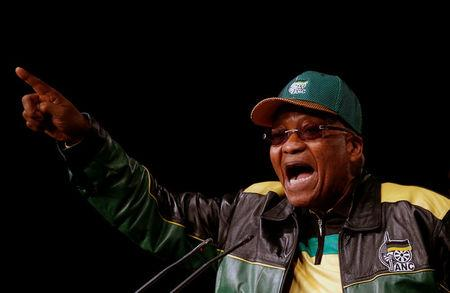 South Africa's President Zuma gestures during his opening address at the ANC's 5th National Policy Conference at the Nasrec Expo Centre in Soweto