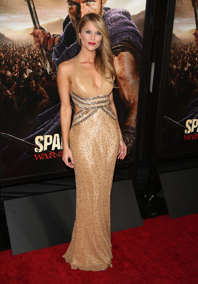 "Ellen Hollman attends the premiere of Starz's ""Spartacus: War of the Damned"" at Regal Cinemas L.A. Live on January 22, 2013 in Los Angeles, California."