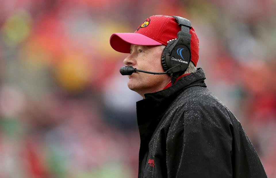 Bobby Petrino has a career 58-18 record at Louisville (Getty).