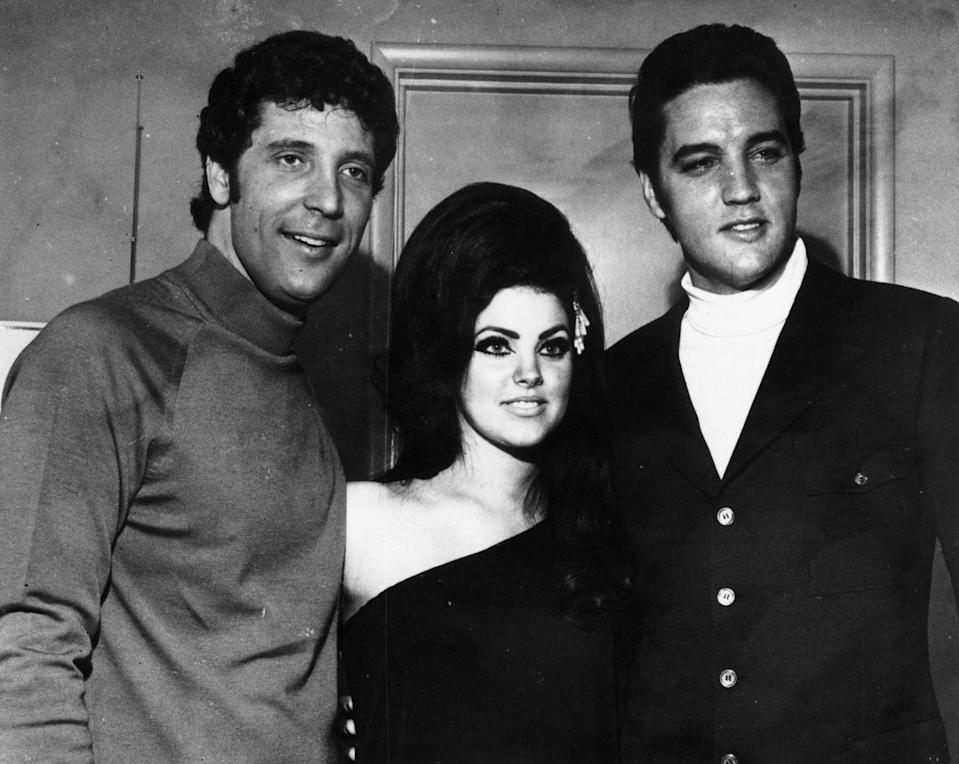"""<p>In 1971, Presley was honored with the Grammy Awards Lifetime Achievement Award, which is granted to artists who """"during their lifetimes, have made creative contributions of outstanding artistic significance to the field of recording,"""" according to <a href=""""https://www.grammy.com/grammys/awards/lifetime-achievement-awards"""" rel=""""nofollow noopener"""" target=""""_blank"""" data-ylk=""""slk:grammy.com"""" class=""""link rapid-noclick-resp"""">grammy.com</a>. </p>"""