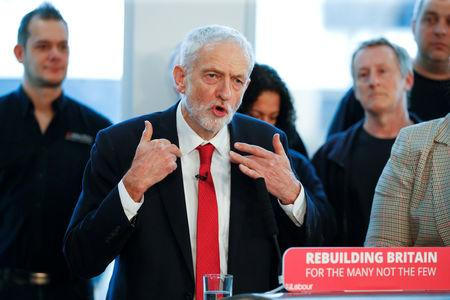 Jeremy Corbyn, leader of the Labour Party, gestures as he speaks on Brexit in Wakefield, Britain, January 10, 2019. REUTERS/Phil Noble