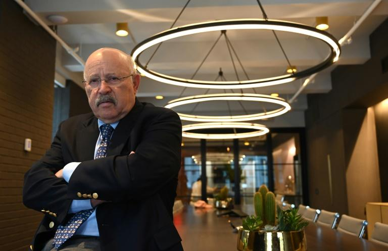 "Veteran financial advisor David Kotok poses in a midtown New York office -- he calls himself an ""old curmudgeon"" who is not afraid of Donald Trump (AFP Photo/TIMOTHY A. CLARY)"