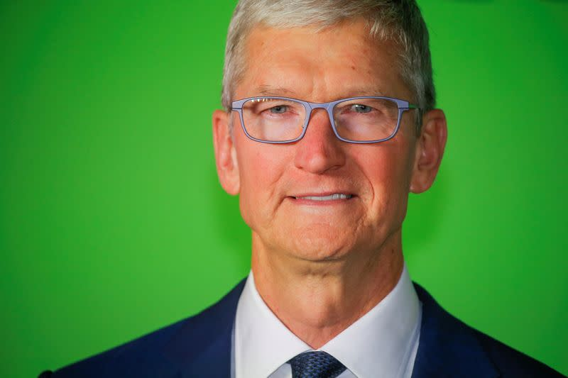 """Apple CEO Cook arrives to the global premiere for Apple's """"The Morning Show""""at the Lincoln Center in the Manhattan borough of New York"""