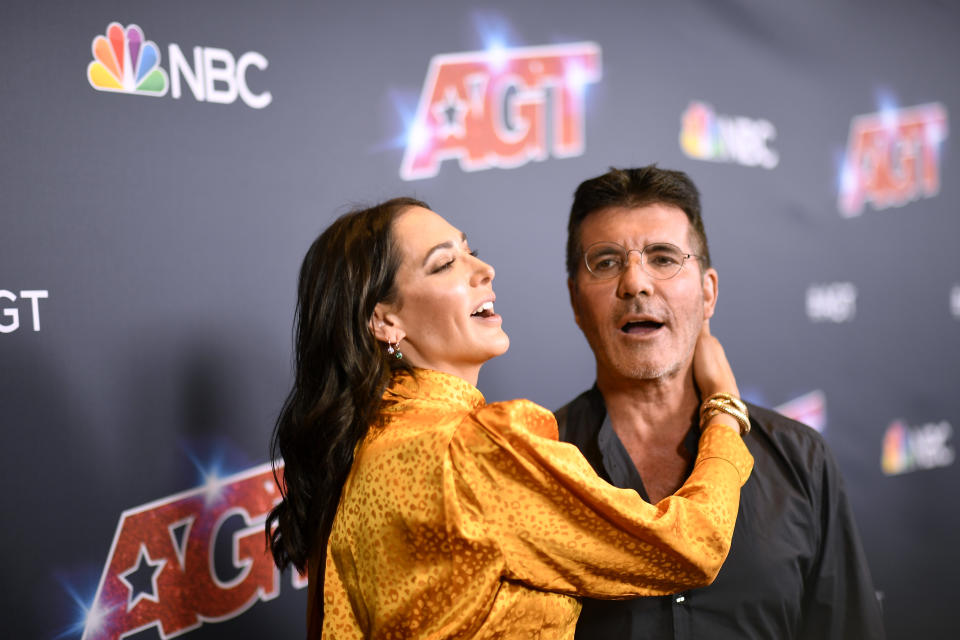 "HOLLYWOOD, CALIFORNIA - SEPTEMBER 17: Lauren Silverman, Simon Cowell attend ""America's Got Talent"" Season 14 Live Show Red Carpet at Dolby Theatre on September 17, 2019 in Hollywood, California. (Photo by Frazer Harrison/Getty Images)"