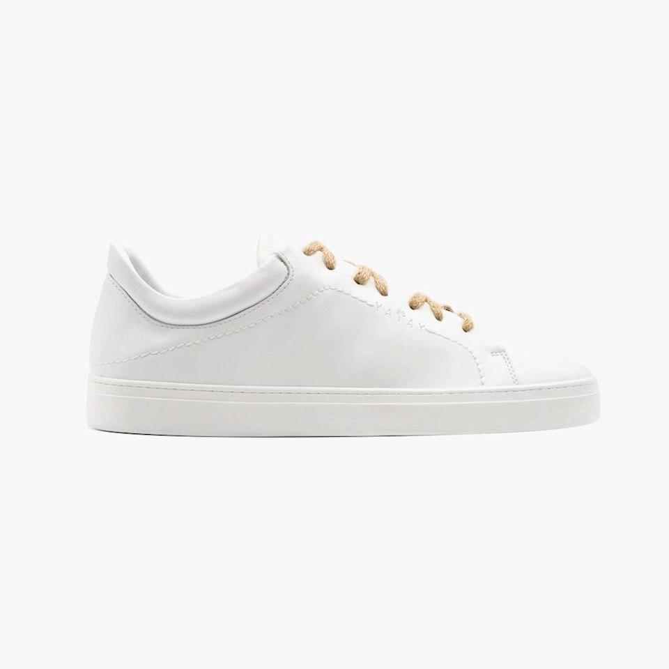 """Looking for a new pair of white sneakers? Opt for Yatay's vegan pair—the brand will also plant a tree in Kenya for each pair sold. $270, YATAY. <a href=""""https://www.yatayatay.com/intl/sneakers-neven-low/neven-low-birch-white/46"""" rel=""""nofollow noopener"""" target=""""_blank"""" data-ylk=""""slk:Get it now!"""" class=""""link rapid-noclick-resp"""">Get it now!</a>"""