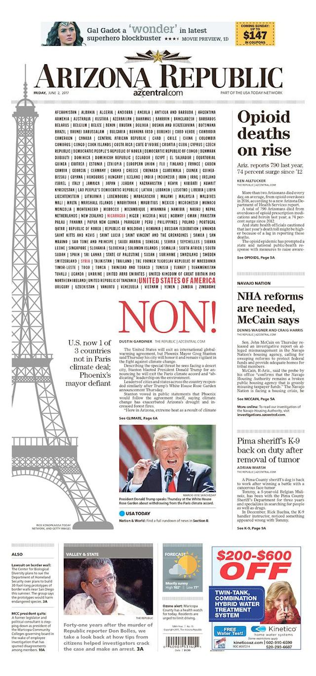 "<p>""The Arizona Republic,"" published in Phoenix, Ariz. (Newseum) </p>"